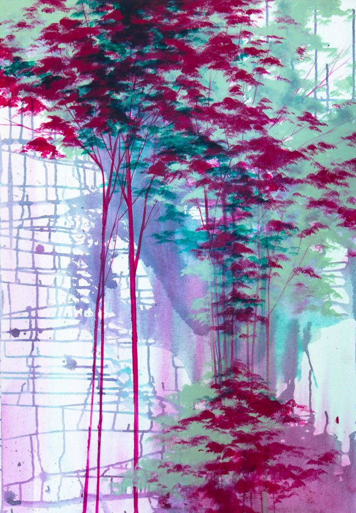 trees small 4, 39.4 x 31.5 inches, 100 x 80 cm, 2014, oil and acrylic on canvas